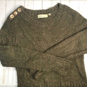 Anthro Charlie & Robin Berm Button Sweater Sz M